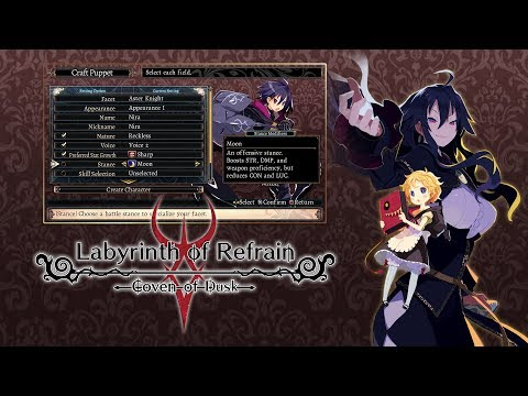 "Labyrinth of Refrain: Coven of Dusk - ""Puppet Creation"" (Nintendo Switch, PS4, Steam) thumbnail"