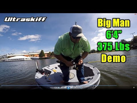 Video of 375 pound man trying out the Ultraskiff 360 watercraft