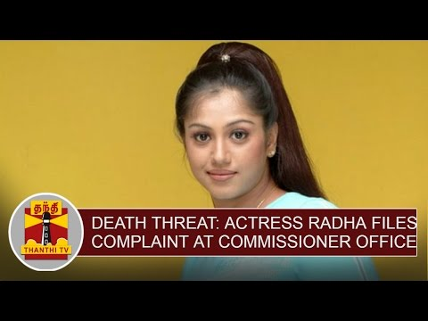 Death-threat-Actress-Radha-files-Complaint-at-Commissioner-Office-Thanthi-TV