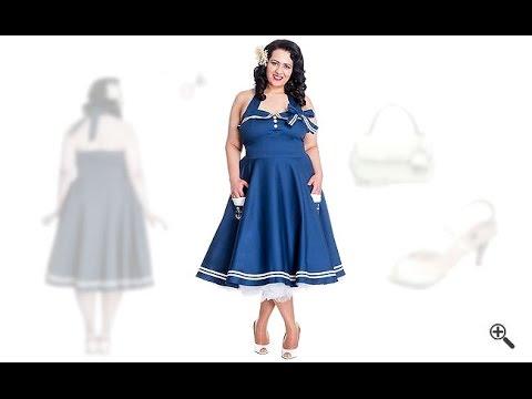 Rockabilly Kleider große Größen +50er Outfits für Corina