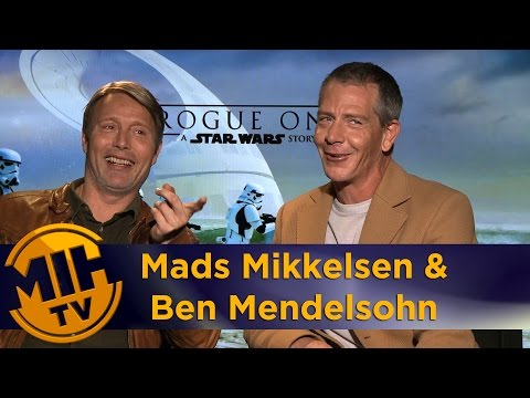 "Mads Mikkelsen & Ben Mendelsohn Interview For ""Rogue One: A Star Wars Story"" And Movie Review"