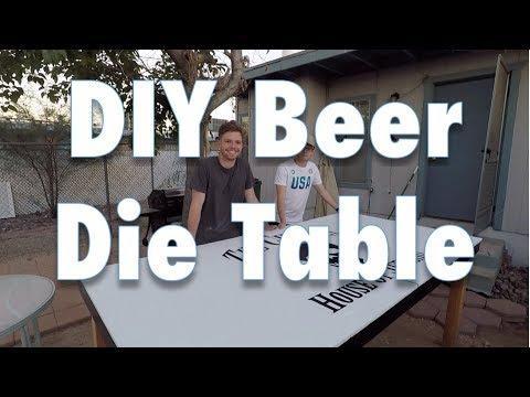 DIY Beer Die Table