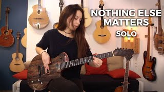 Metallica - Nothing Else Matters Solo (Cover by Chloé on a Deneuville Guitar)