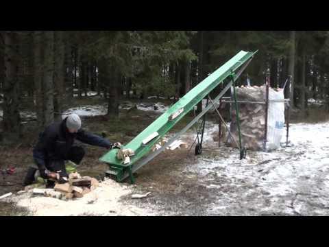 Förderband Transportband 5 m für Brennholz Gurtförderer elektrisch