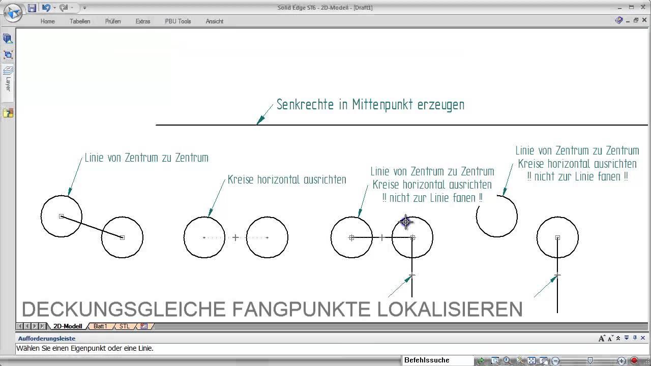 Vorschaubild: Solid Edge: Lokalisieren von Fangpunkten mittels Tastendruck