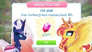 How to invite friends | My little pony game part 303 | lunaverse blitz story