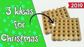 3 Christmas Ideas 2019 With Egg Cartons  - Ecobrisa DIY