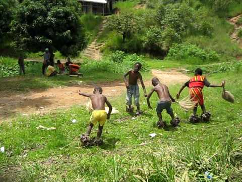 Cameroon dancing by boys