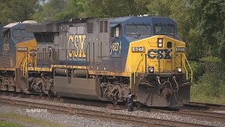 preview picture of video '(15) CSX Big Six Leading @ Westfield, NY.  Aug. 1 2014'