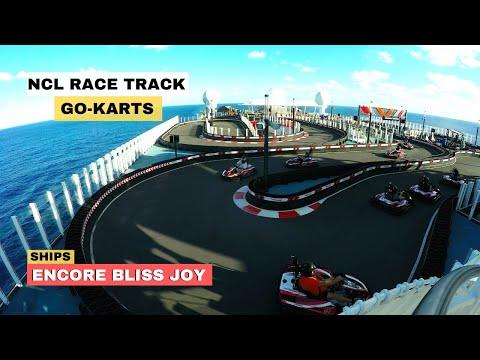Norwegian NCL Encore-Bliss-Joy Race Car Track Go-Karts 4K