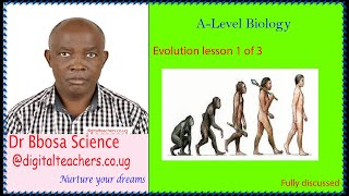 Evolution A-level lesson 1 of 3