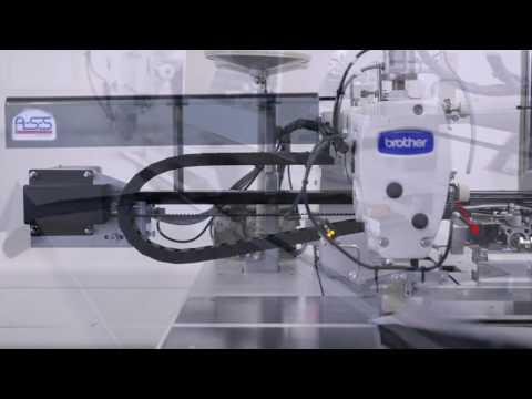 Швейный автомат для притачивания мешковины кармана к лицевой стороне штанины BASS 5600 ASS video