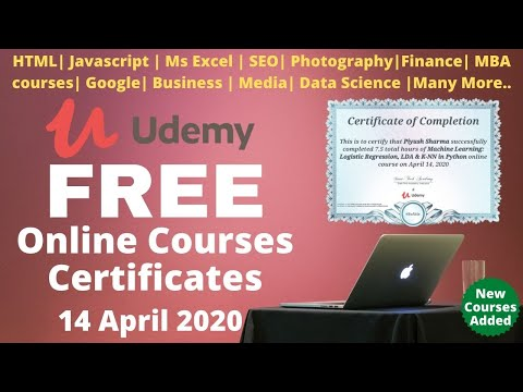 Udemy Free Courses with free online certificates   #UdemyCoupon ...
