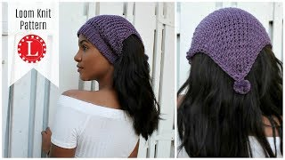 LOOM KNITTING Ear Warmer Pattern - Headband Hat Scarf On A Round Loom | Messy Bun Hat | Loomahat