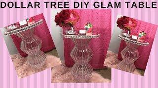 DOLLAR TREE DIY GLAM TABLE I HOME DECOR