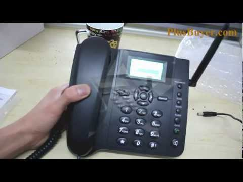 Quadband Wireless Desk Phone with SMS Function – 2.4 Inches