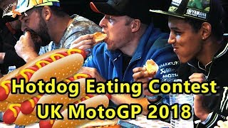 Hot Dog Eating Contest Silverstone Woodlands MotoGP August 2018