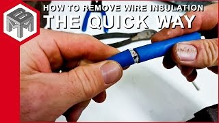 How to remove wire insulation without cutting the inner wires