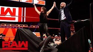 Stephanie McMahon sends Ronda Rousey crashing through a table: Raw, April 2, 2018 - Video Youtube