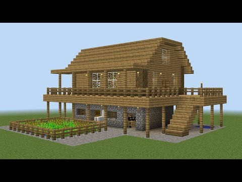 Minecraft - How to build a farm house | Youtube Search RU