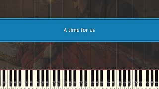 A time for us - Andy Williams | Piano tutorial