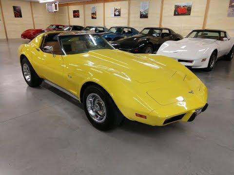 1977 Bright Yellow Corvette T Top For Sale Video