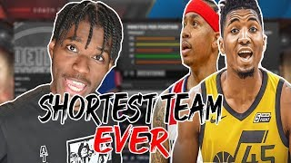 SHORTEST NBA TEAM OF ALL TIME REBUILDING CHALLENGE IN NBA 2K20