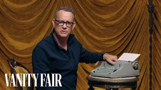 Tom Hanks Changes the Ribbon on a Typewriter | Secret Talent Theatre | Vanity Fair - Video Youtube