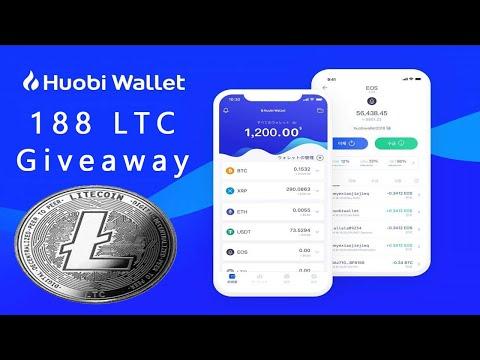 188 Litecoin no Grande evento de Giveaway na Huobi Wallet ! SEM REFERENCIA  .