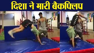 Disha Patani performs Back flip in latest video; FilmiBeat