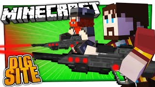 WE STORM A SCI FI BASE | Minecraft Dig Site #11