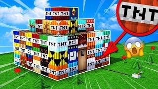 Dům ze všech NEJSILNĚJŠÍCH DRUHU TNT v minecraftu!! To musíš vidět!! 😱🔥[ SVĚTOVÝ REKORD]