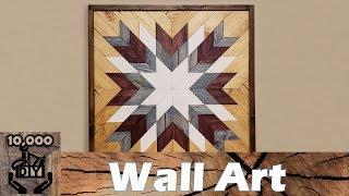 Geometric Wood Wall Art | Wood Decor | Wood Quilt | Wood Mosaic