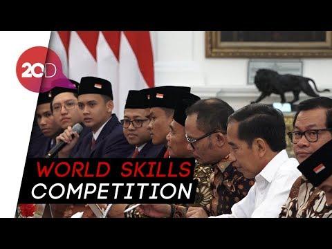 Jelang Tanding di Rusia, Siswa dan Lulusan SMK Bertemu Jokowi