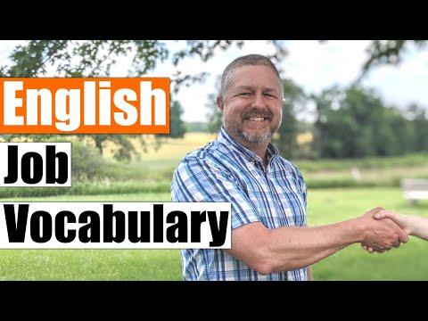 Learn English Job Vocabulary and Job Phrases