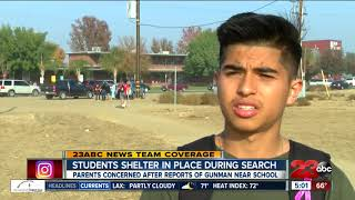 Students talk about lockdown after report of gunman at Arvin High School