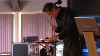 Gavin Harrison, Drummer with Porcupine Tree demos the new KORG 2009 WaveDrum WD-X
