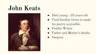 An Introduction To John Keats