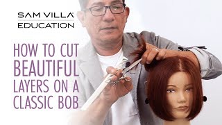 How To Cut Beautiful Layers On A Classic Bob