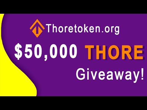 Campanha de Airdrops da ThoreToken no valor de $50,000 Mil Dólares !