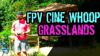 FPV Drone Freestyle - CiNe WhOoP grasslands // HD