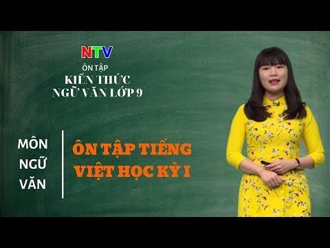 Ngữ văn 9: Ôn tập phần Tiếng Việt học kì I
