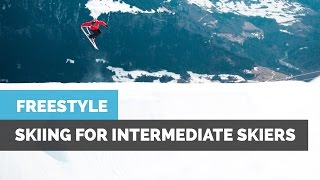 INTERMEDIATE FREESTYLE SKIING | HOW TO 360 WITH GRABS, 270 & FRONT FLIP