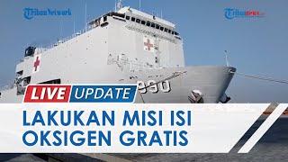 KRI dr Soeharso Merapat di Pelabuhan Tanjung Emas Semarang, Lakukan Misi Isi Oksigen Gratis