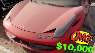 HOW CAN YOU BUY !! Dubai Accident Cars Auction Ferrari ,GTR, Lamborghini