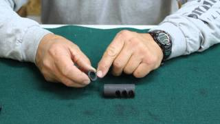 How to install a rifle compensator with Jerry Miculek
