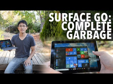 Surface Go - It's complete garbage.  Don't buy this garbage.