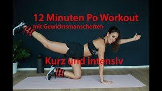 PO WORKOUT für Zuhause - 12 Minuten Home Training - Mit Gewichtsmanschetten