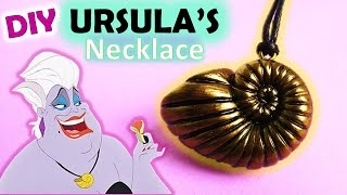 Ursula's Seashell Necklace, The Little Mermaid, Polymer Clay Tutorial || Maive Ferrando