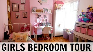 GIRLS BEDROOM TOUR AND STORAGE IDEAS!
